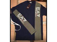 Kids ea7 shorts tshirt set