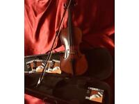Antique Maidstone 4/4 violin set by John Murdock Ltd. London. Ready to play