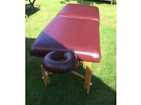 Burgundy Leather Portable Massage Table