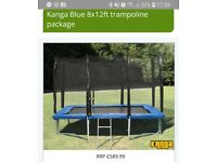 12ft x 8ft rectangular trampoline