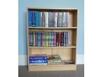 Light Coloured Bookcase for all those DVDs and Boxsets