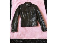 Real leather woman's biker jacket