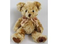 Small Light Brown Teddy Bear Soft Toy By Russ Berrie And Co.