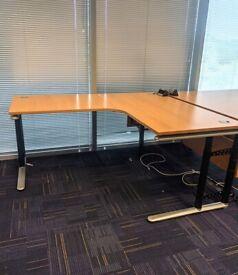 FREE SAME DAY DELIVERY - Height Adjustable Ergonomic Corner Office Desks