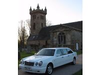 Last Minute Wedding Cars - Mercedes E-class & Mercedes Stretch Limo