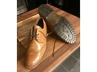 Brand new brown leather men's brogues size 10 leather