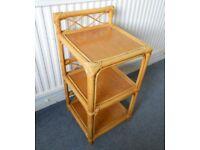 Bamboo Cane Bedside Table or Shelf Unit