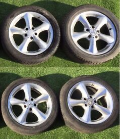 17 Mercedes Clk c class wheels and tyres 5x112