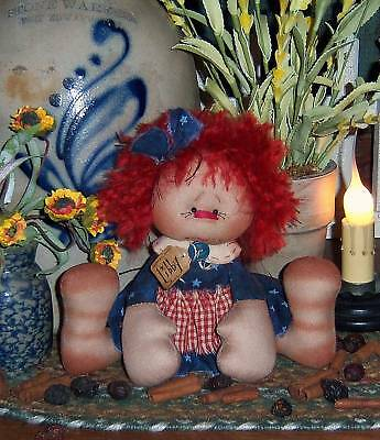 Primitive Raggedy Ann Libby Annie Doll Paper Pattern #590