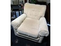 Arm Chair in Cream American Made