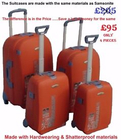 Chiba-Nari Japan - Brand-New 4pcs Hard Travel Trolley Suitcases Spinning wheels + Keys+Combi-Locks