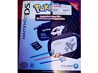 Pokemon Nintendo DS DSi Case Black and White Styluses Original Box Good Condition