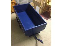 Pedal go kart Blue dumper trailer