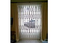 WINDOW & DOOR SECURITY GRILLES FOR HOMES & BUSINESS ROLLER SHUTTERS GATES BARS MESH GRILLS LOCKS