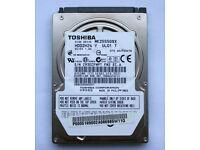 "250GB Toshiba HDD 2.5"" MK2555GSX - SATA 3Gb/s"