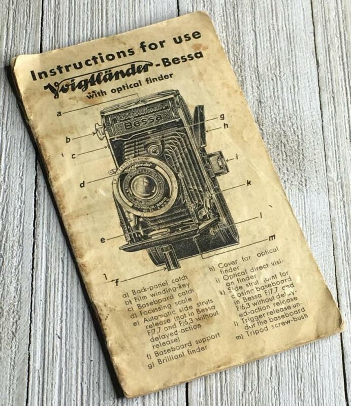 Vintage German Voigtlander Bessa Camera Instruction Manual Guide