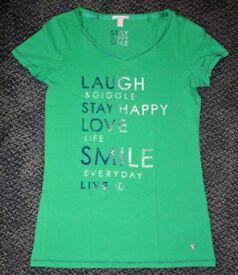 ESPRIT - Green women's t-shirt with print