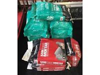 Hanson 40N Concrete 9 bags + 3 Sand Cement Mortar Job Lot Building Material