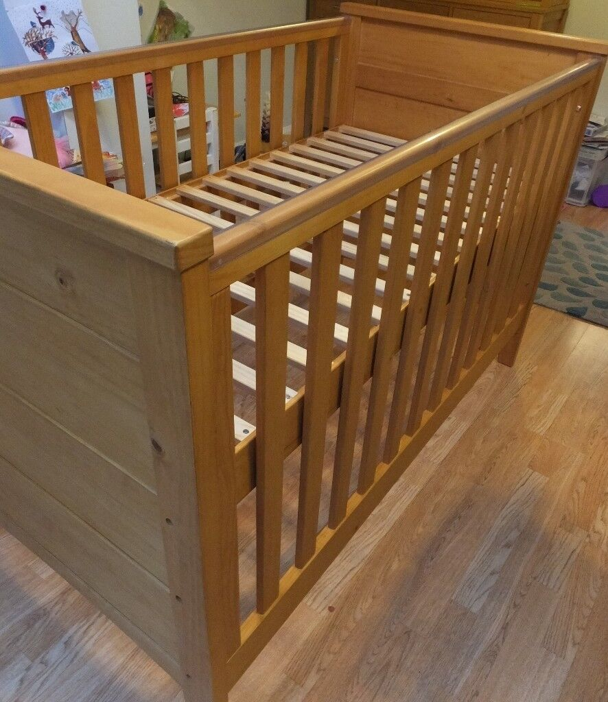 Cot bed / child's bed with mattress - for ages 0 to 6 (from NEXT)