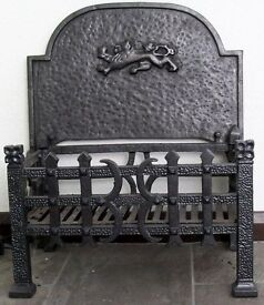 Cast Iron Grate and Back