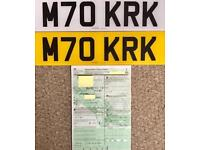 Cherished Personalised Private Registration VRM Number Plates KIRK? MARK? Etc Etc