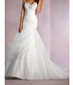 Alfred Angelo wedding dress in white