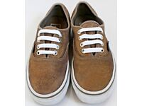 Women's Size 3 Vans Trainers - Gold Sparkly