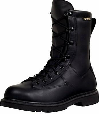 Rocky Men's 9'' Duty Leather Work Boots GORE-TEX Black 802A ()
