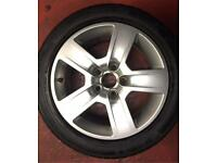 "Audi 16"" alloy wheel & tyre 7mm 5x112"