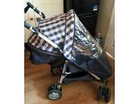 Silver Cross Girls Pink & Bluish-Grey Pushchair