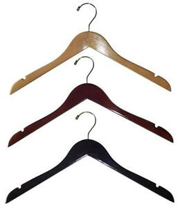 Wood Hangers, clothes hangers, white wood hangers, pant hangers, heavy duty hangers