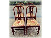A set of 4 vintage dining chairs