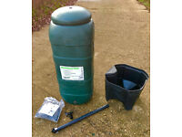 100L Rainsaver Water Butt, BRAND NEW / UNUSED, COST£40 - Includes: Water butt, Tap, Diverter. Garden