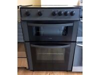 LOGIK Black & Grey, 60cm, Ceramic, Fan Ass ELECTRIC COOKER + 3 Month Guarantee + FREE LOCAL DELIVERY