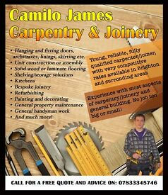 Camilo James Carpentry & Joinery - professional carpenter/handyman with very competitive rates