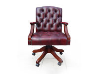 Stunning Gainsborough Chesterfield Captains Chair Excellent Condition