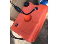 BOAT SAFETY PLASTIC FUEL CELL AND PUNP