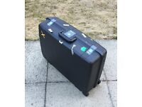 Large Hard Shell Delsey Pull Along Suitcase with Wheels