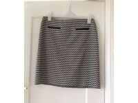 Grey and black skirt