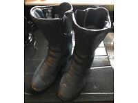Ladies leather bike boots