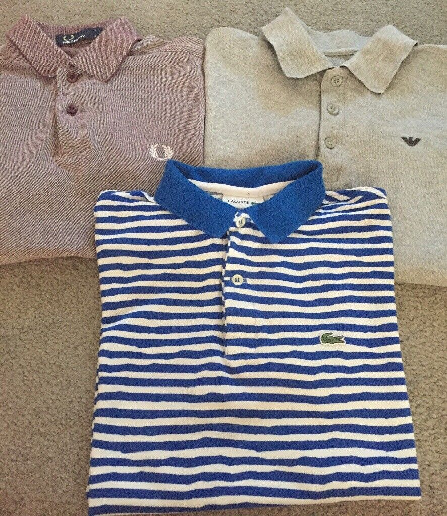 Boys Armani , Fred Perry & Lacoste Polo shirts £5 Each