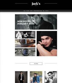 ECOMMERCE / ONLINE SHOP WEBSITE DESIGN - YOUR OWN ONLINE STORE - £245