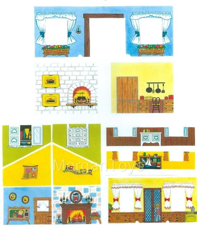 FISHER-PRICE REPLACEMENT LITHOS - INSIDE WALLS #952 HOUSE Little People