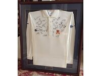Essex County Cricket Club Shirt Signed and Framed