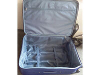 Travel suitcase/trolley 4 wheels 64cm blue