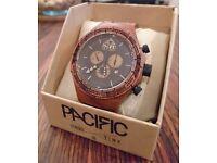Genuine PACIFIC OCEANIA WATCH. HAWAIIAN KOA. The Worlds 1st wooden waterproof watch!