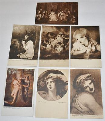 Vintage Old Postcard National Gallery London Greuze Early Century George Romney