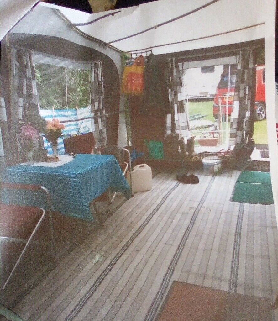 Caravan awning with annex and extra poles fit 520-4 ...