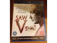 X1 Saw V Blu Ray. New and Factory Sealed.