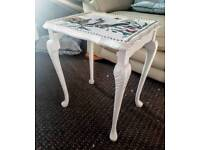 Stunning bird and butterfly table